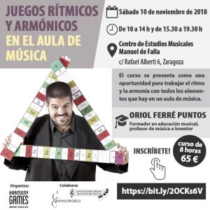 JUEGOS RÍTMICOS Y ARMÓNICOS EN EL AULA DE MÚSICA (Formación del profesorado) @ C.E.M. Manuel de Falla